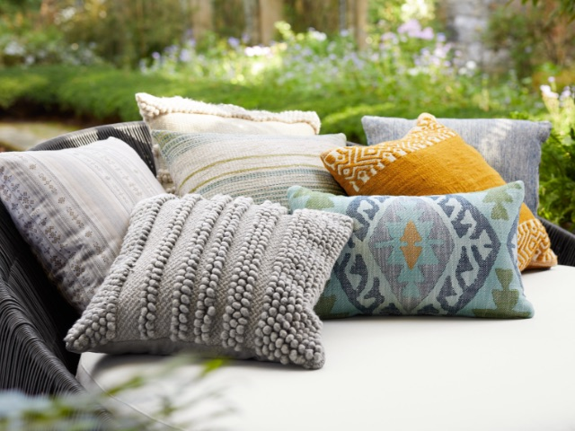 Shop Outdoor Pillows, Poufs, and Decor