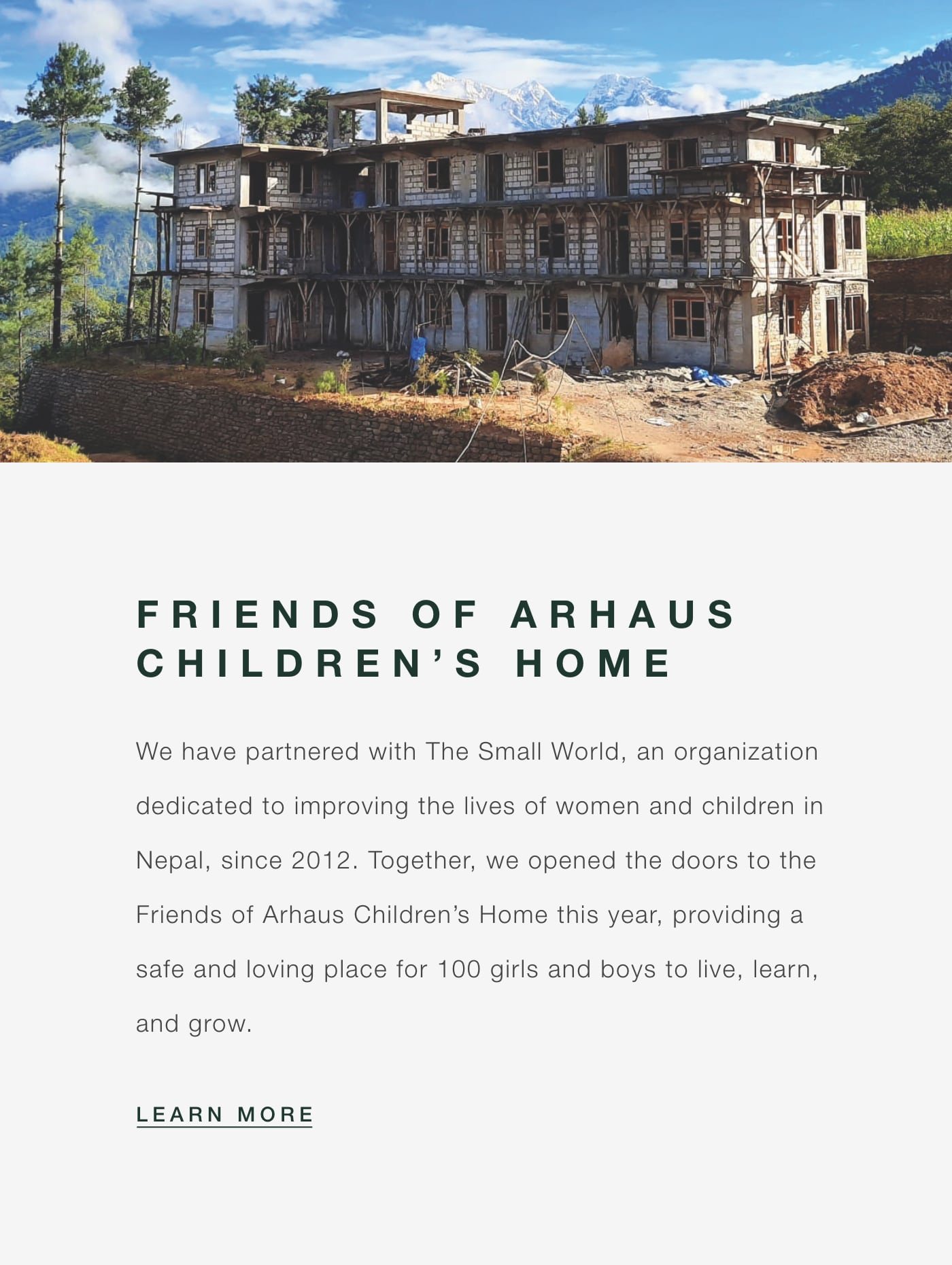 The Small World - Friends of Arhaus Children's Home