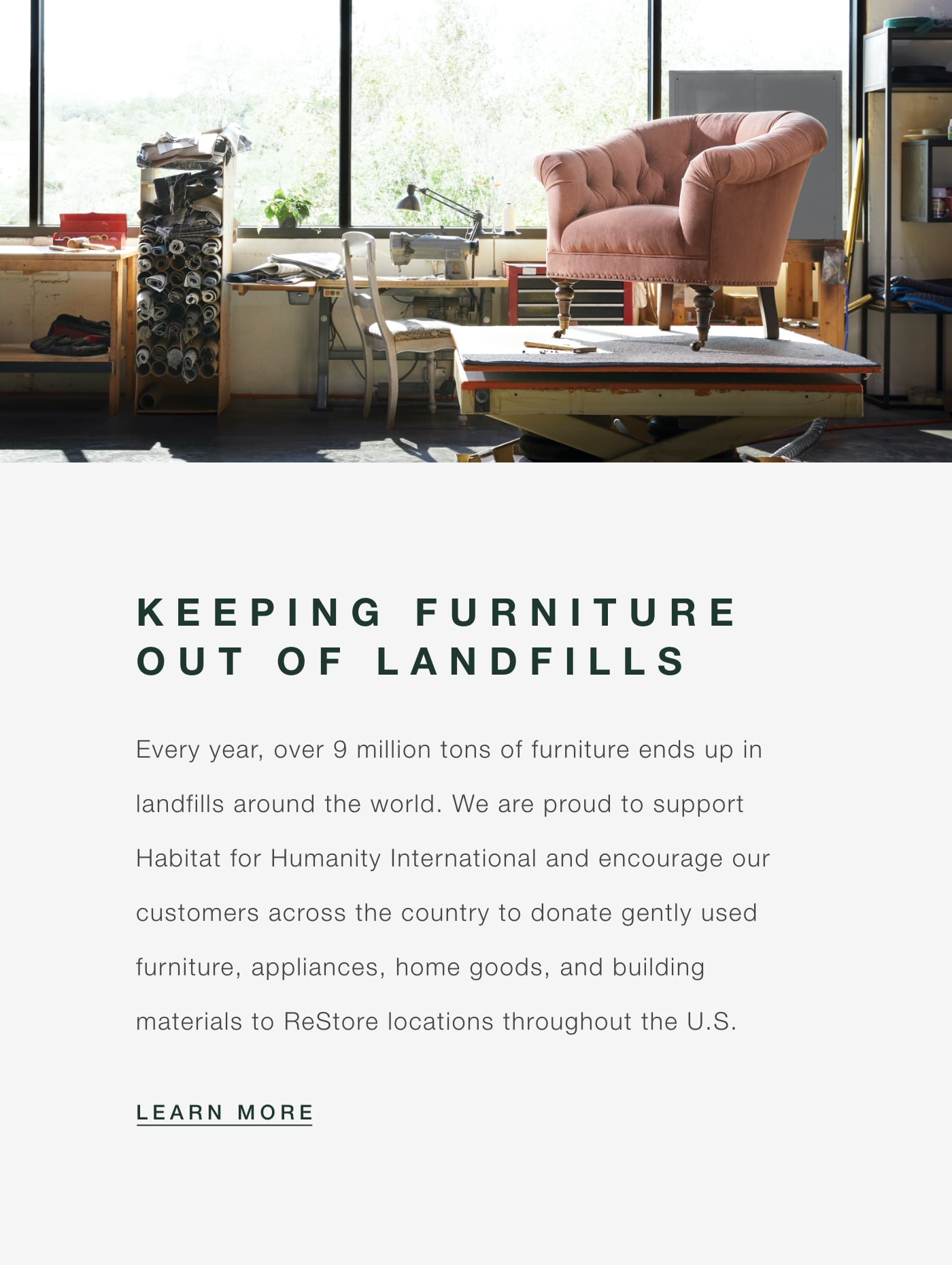 Habitat for Humanity - Keeping Furniture Out of Landfills