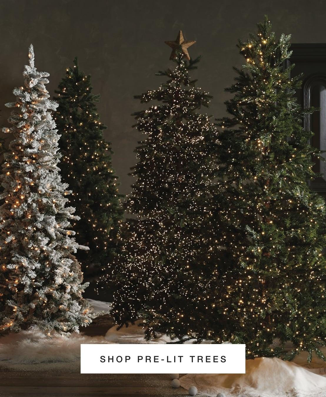 Shop Pre-Lit Trees
