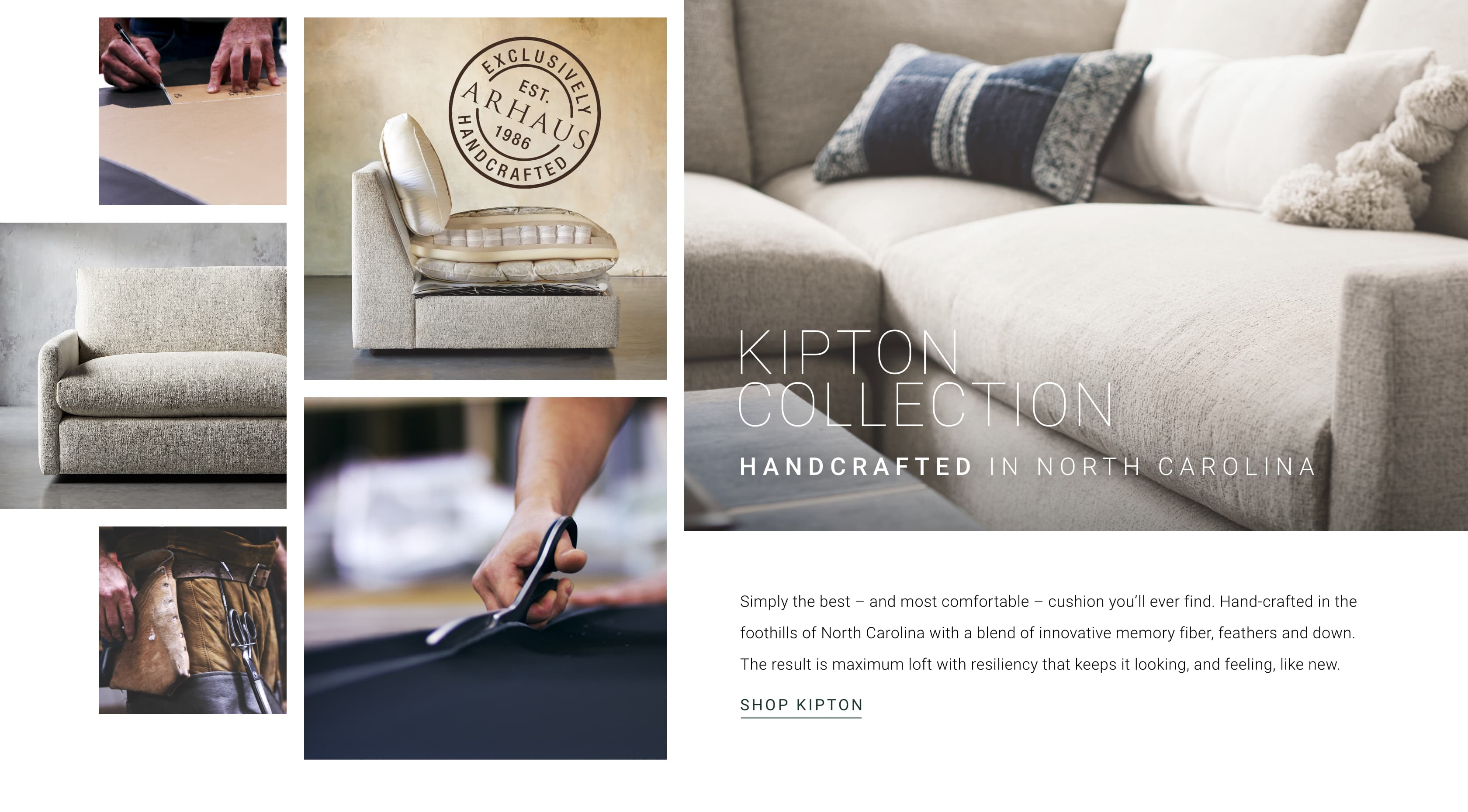 The Kipton Collection, Handcrafted in North Carolina