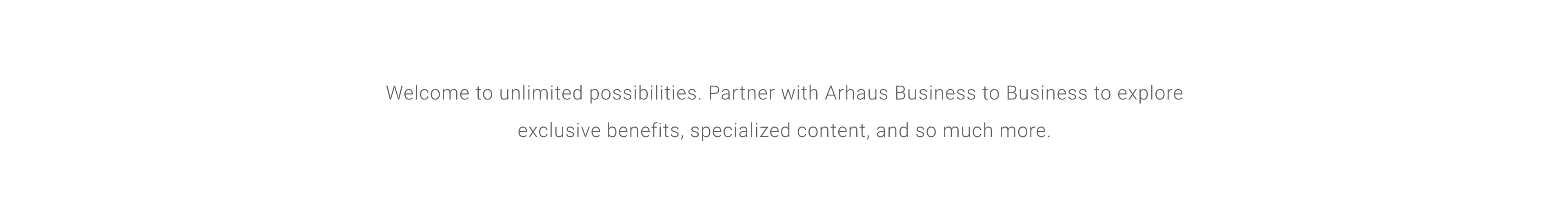 Partner with Arhaus Business to Business