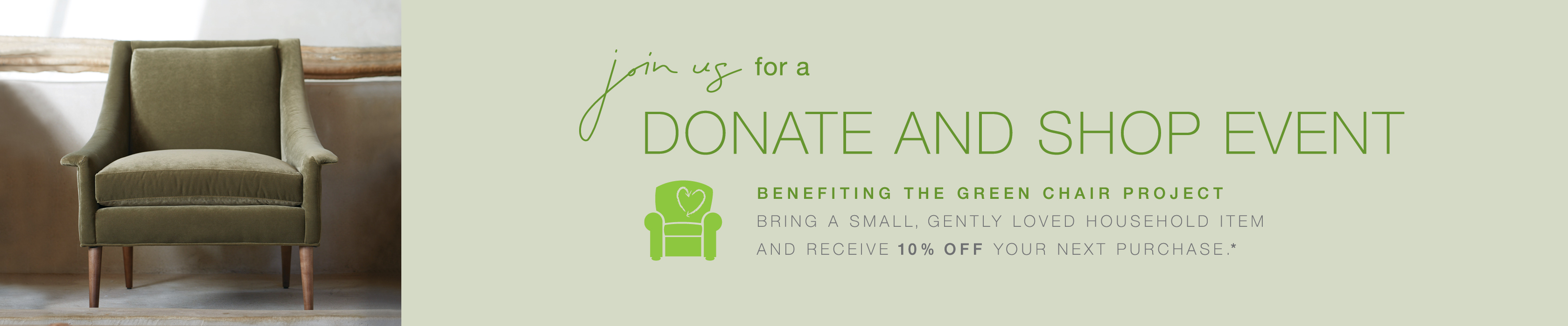 Shop for a Cause - Green Chair Raleigh