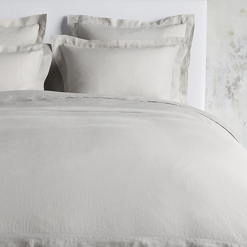 Italian Linen Hemstitch Bedding Collection
