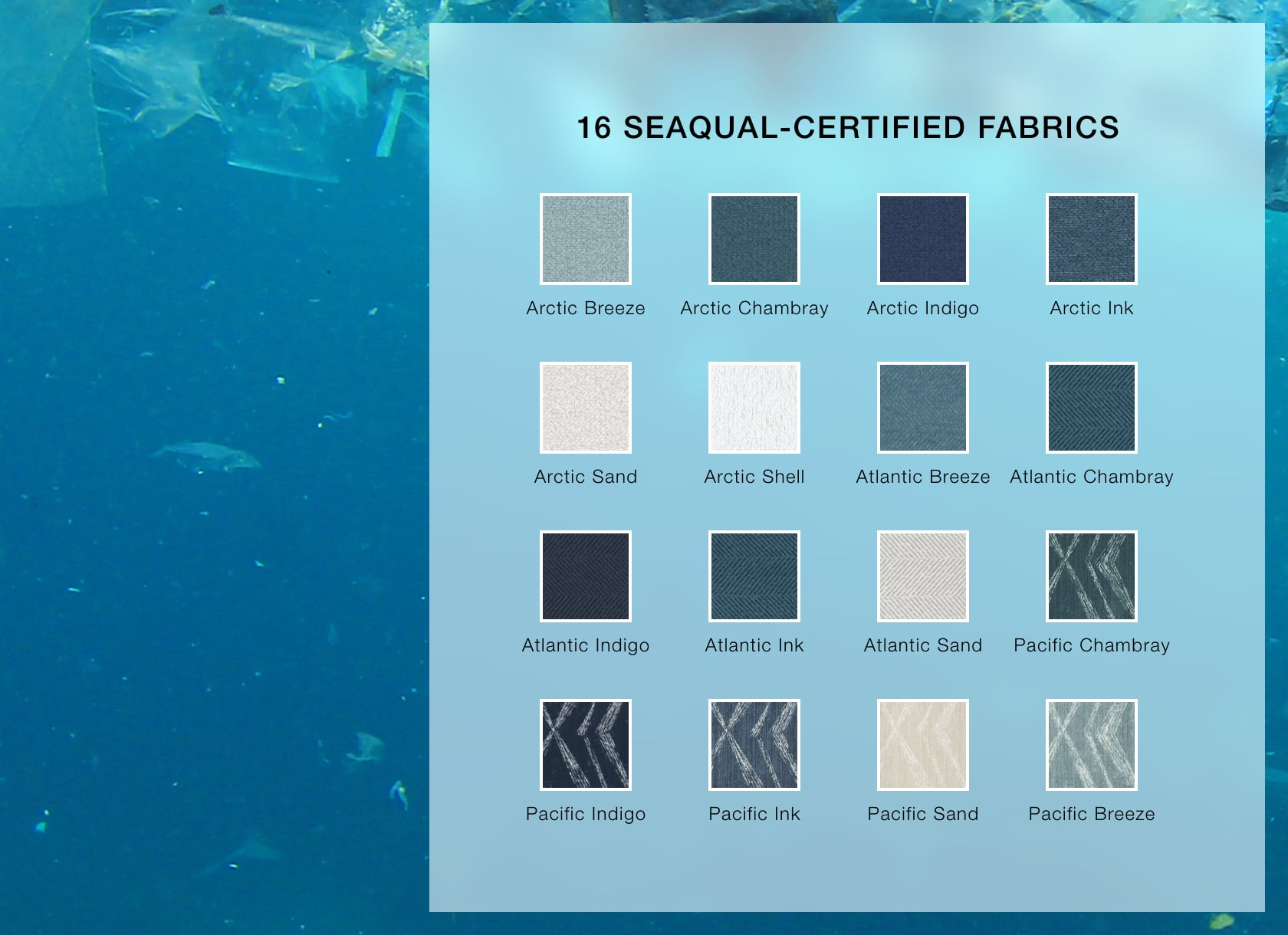 Arhaus offers 16 SEAQUAL-certified fabrics