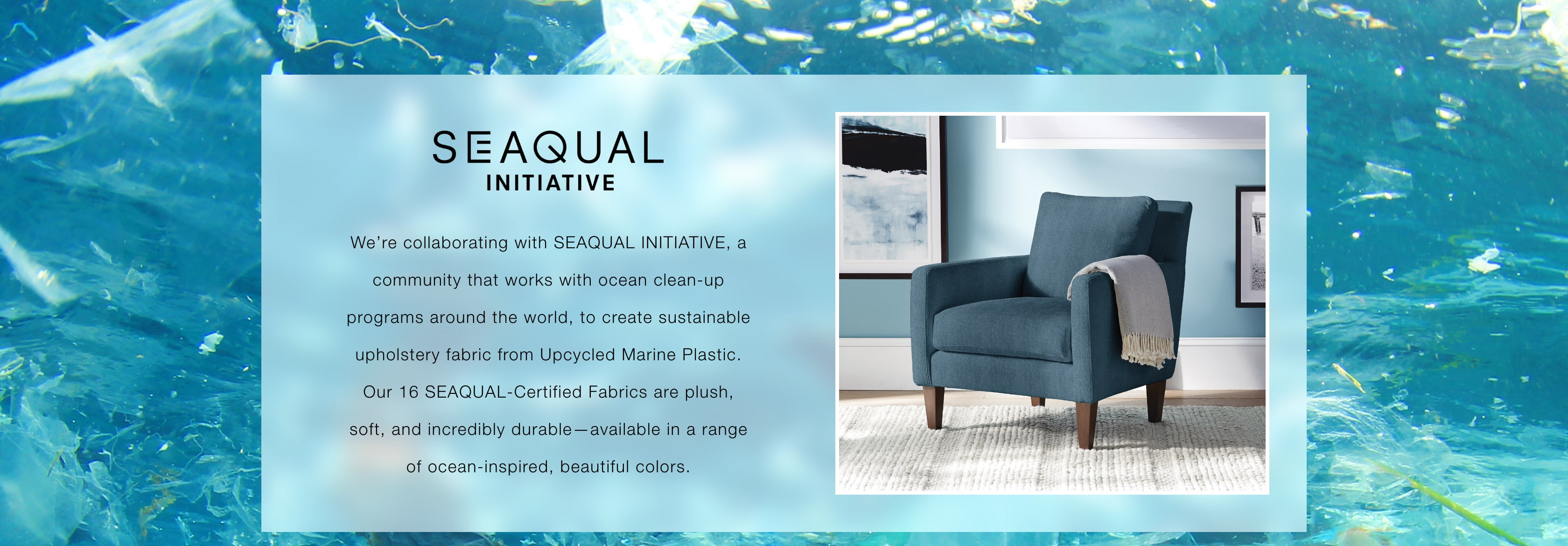 Shop the SEAQUAL Initiative - Sustainable Fabrics Made From Upcycled Marine Plastic