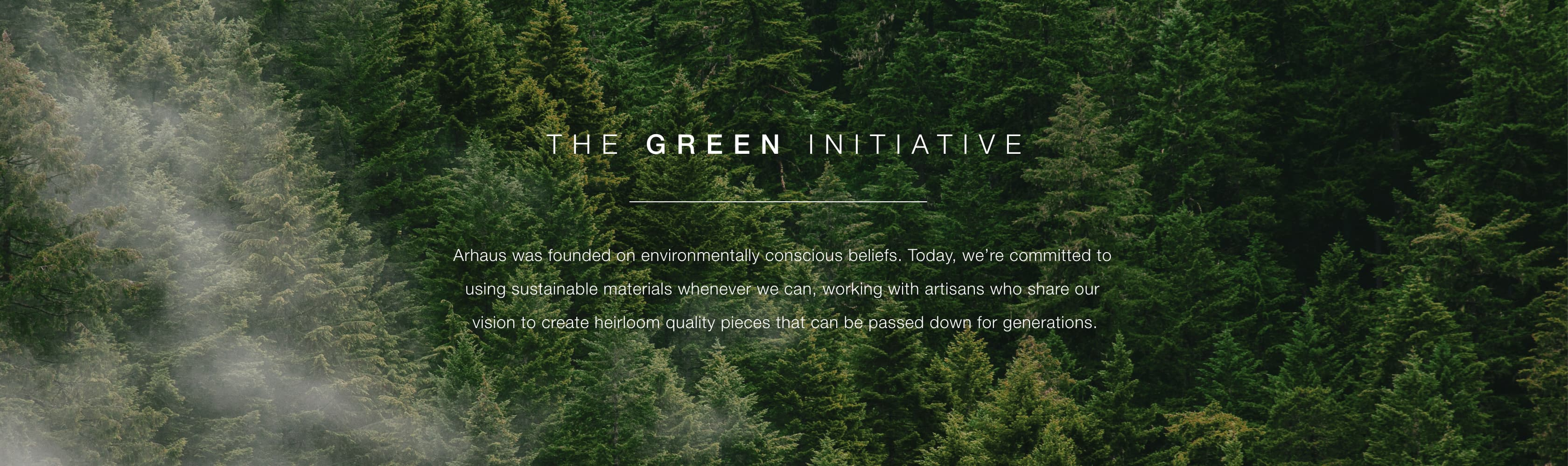 The Arhaus Green Initiative