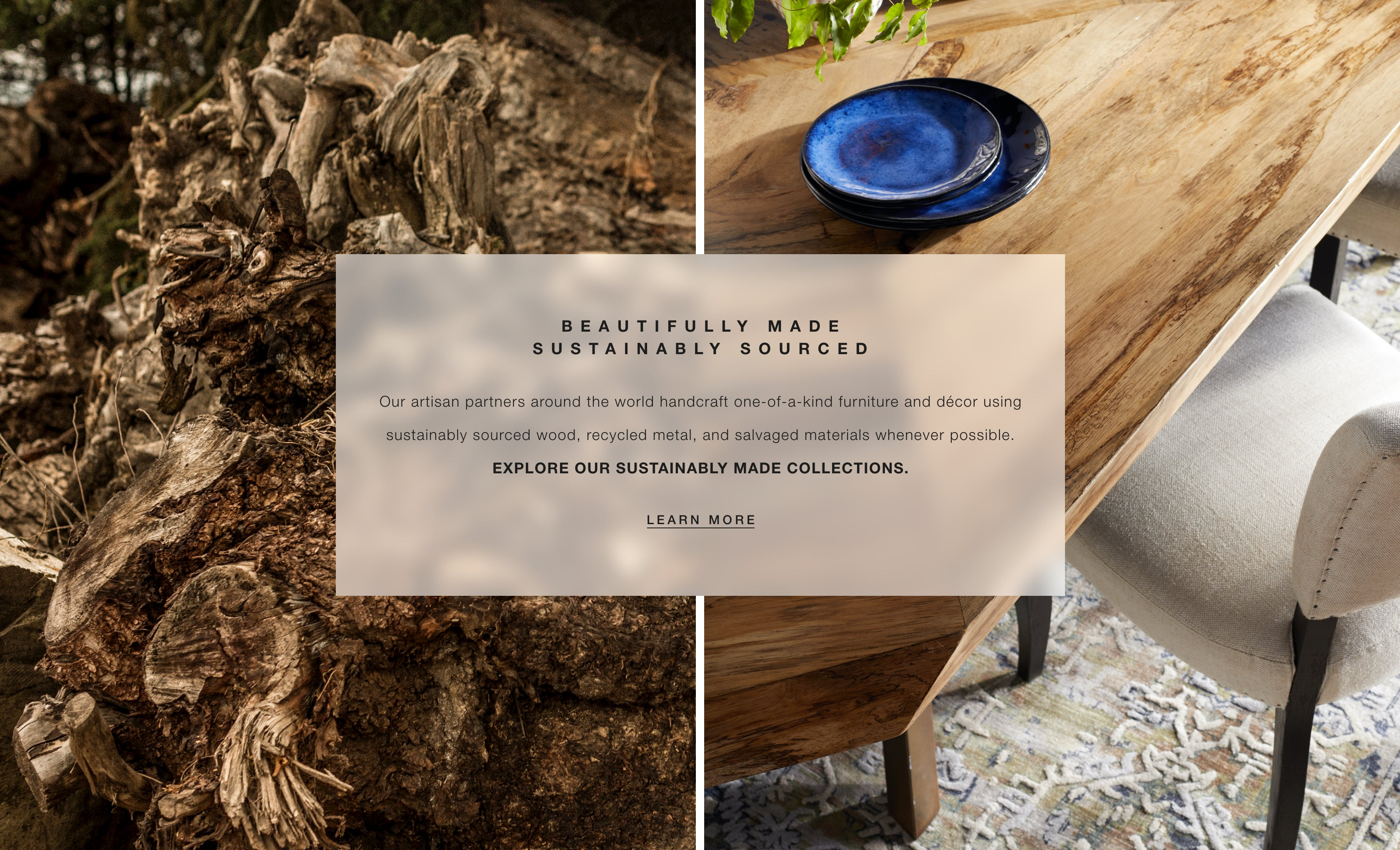Shop Arhaus Sustainable Collections