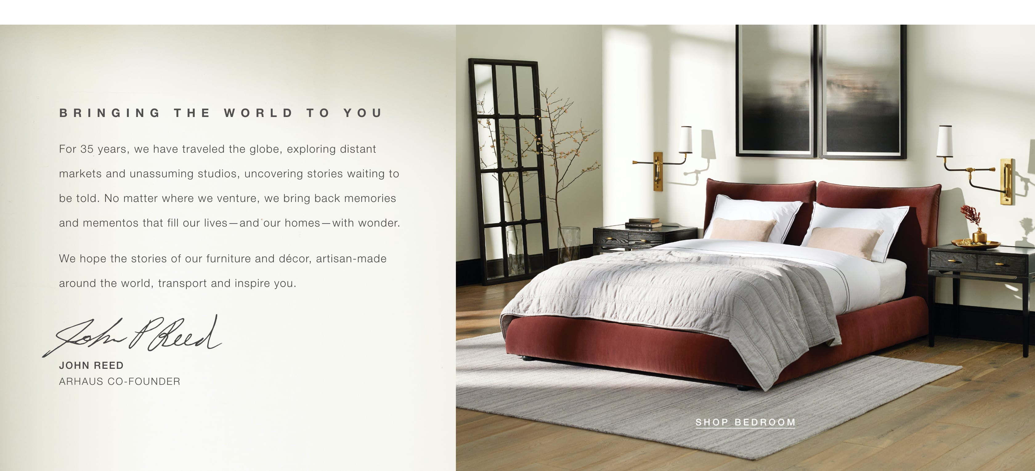 We Bring the World to You - Shop Bedroom