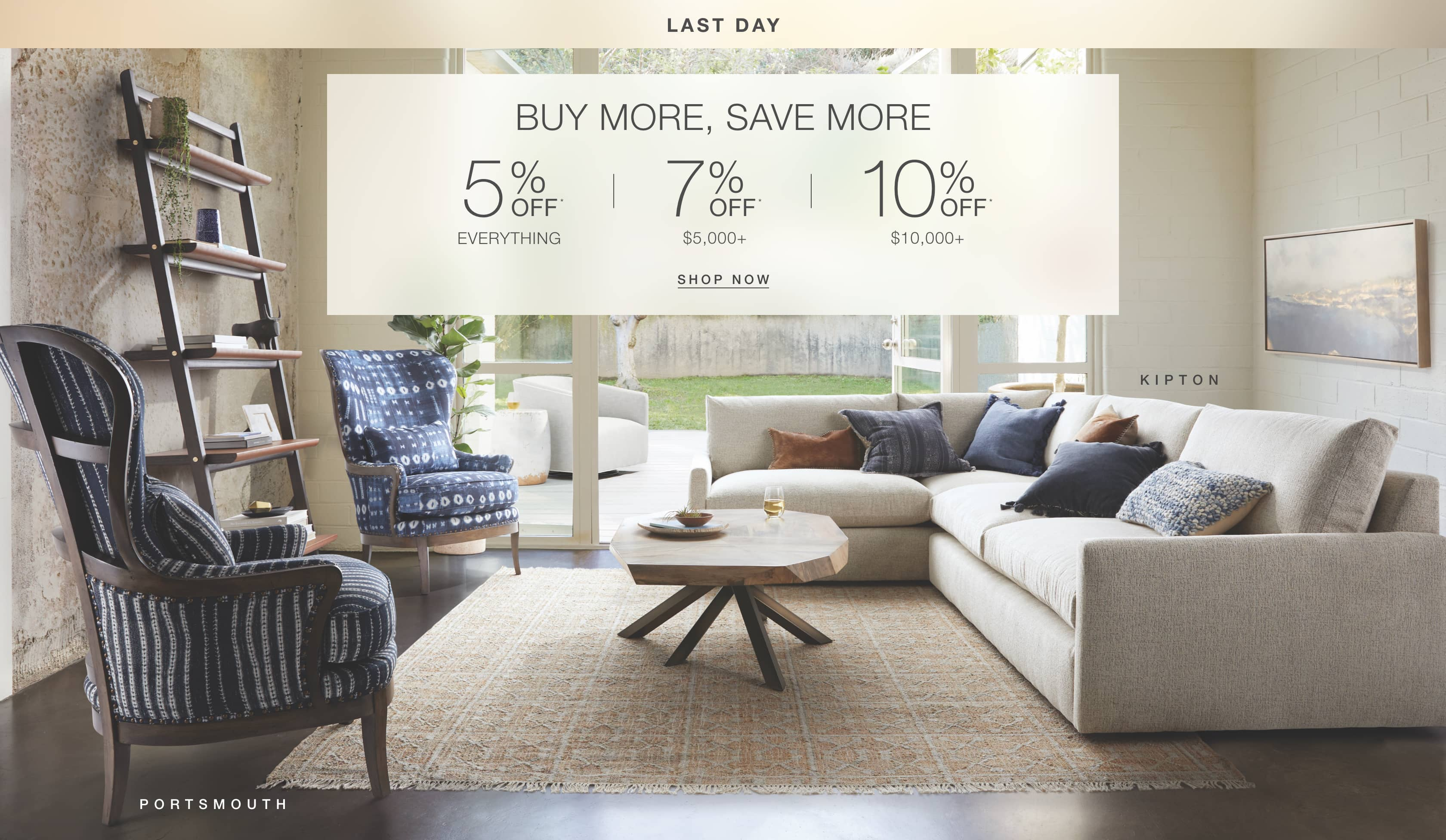 Shop Arhaus Living Room furniture in the Buy More, Save More sale