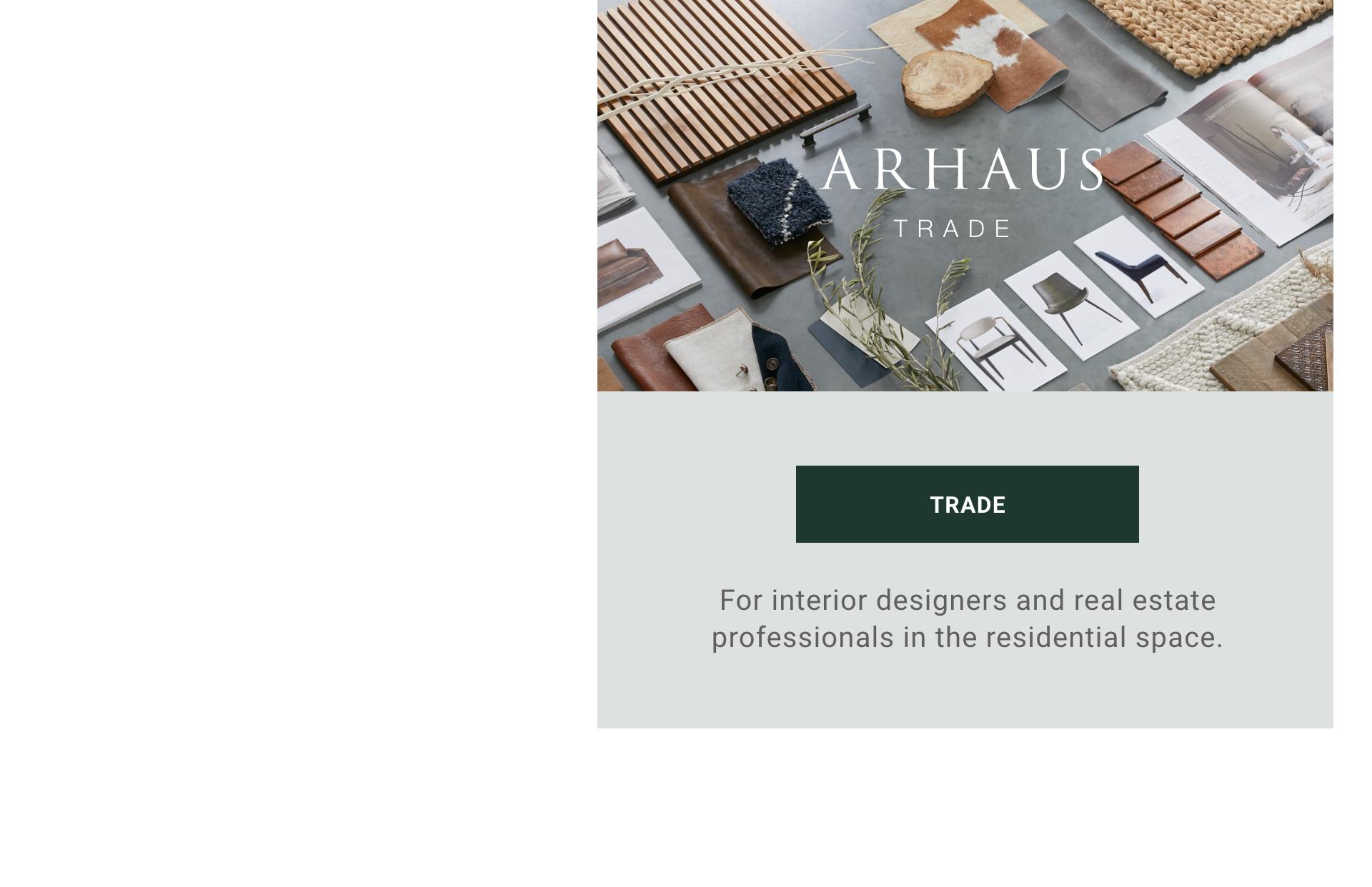 Arhaus Trade Program