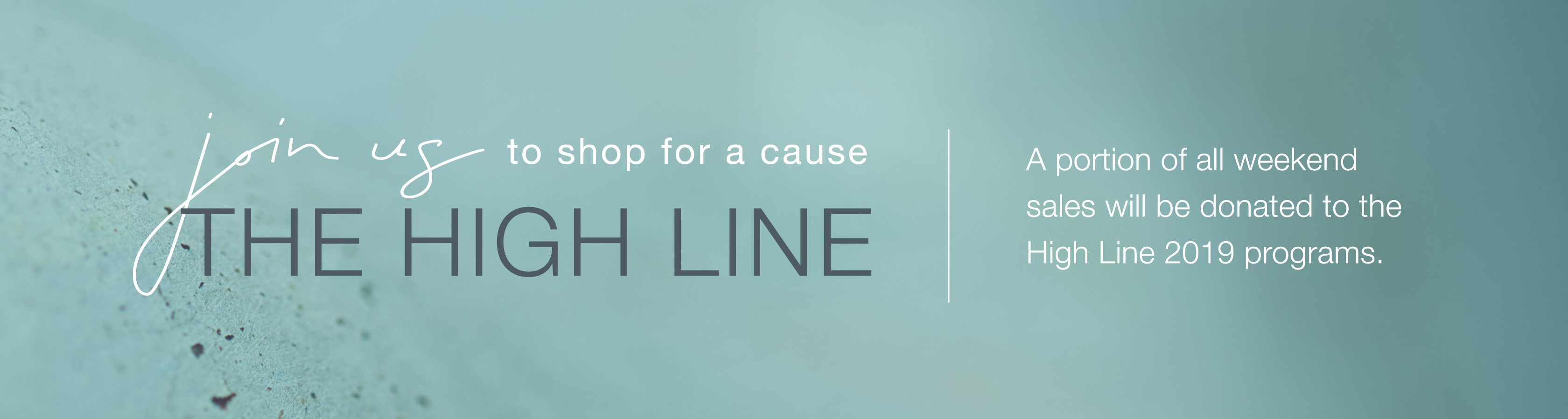 Shop to Benefit the High Line