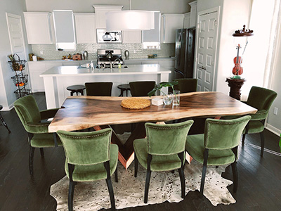 Arhaus Live Edge as Styled by Design Consultant Gracey Snow