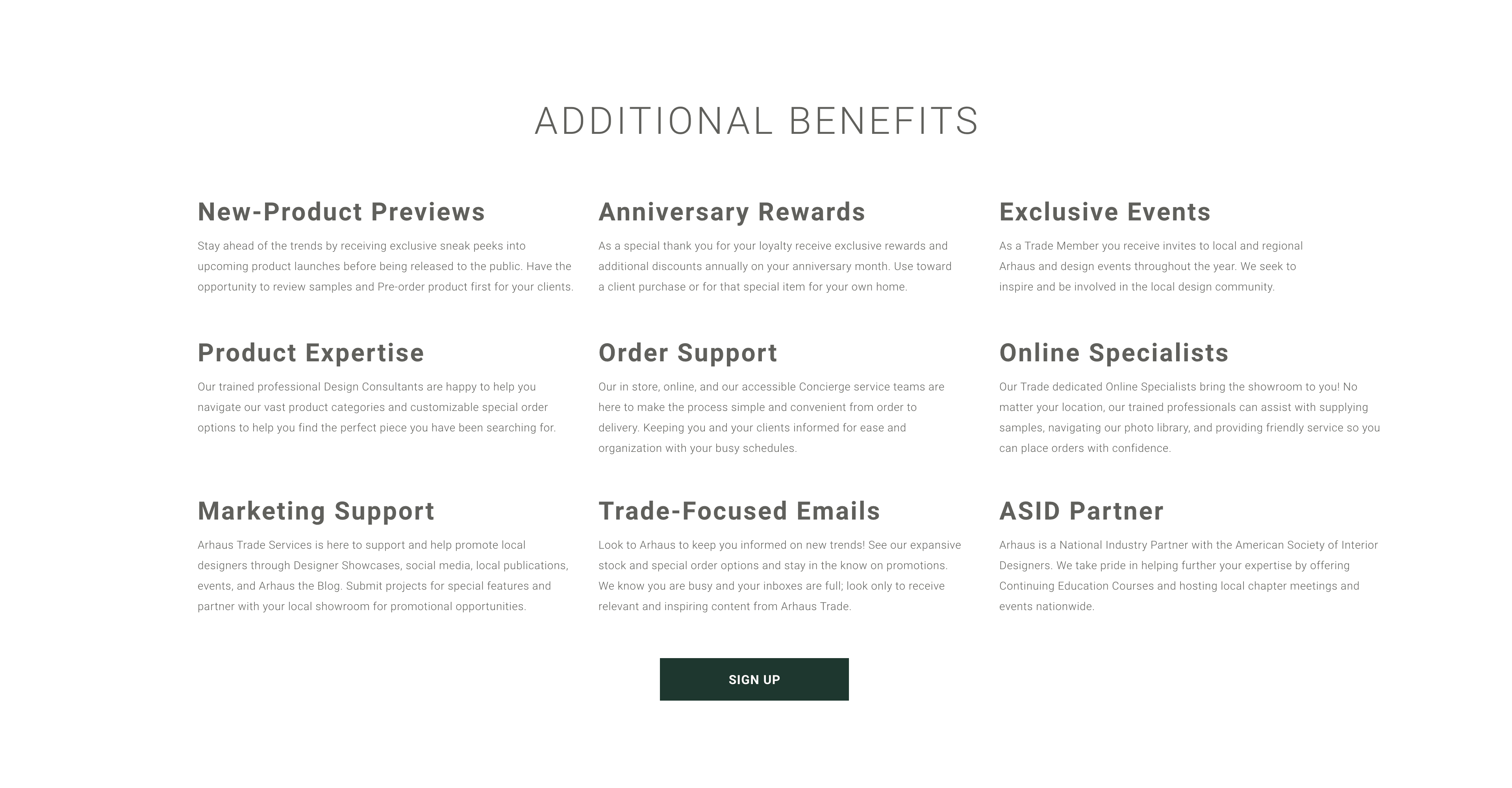 Trade Program Benefits