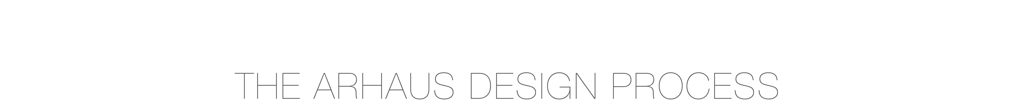 The Arhaus Design Process