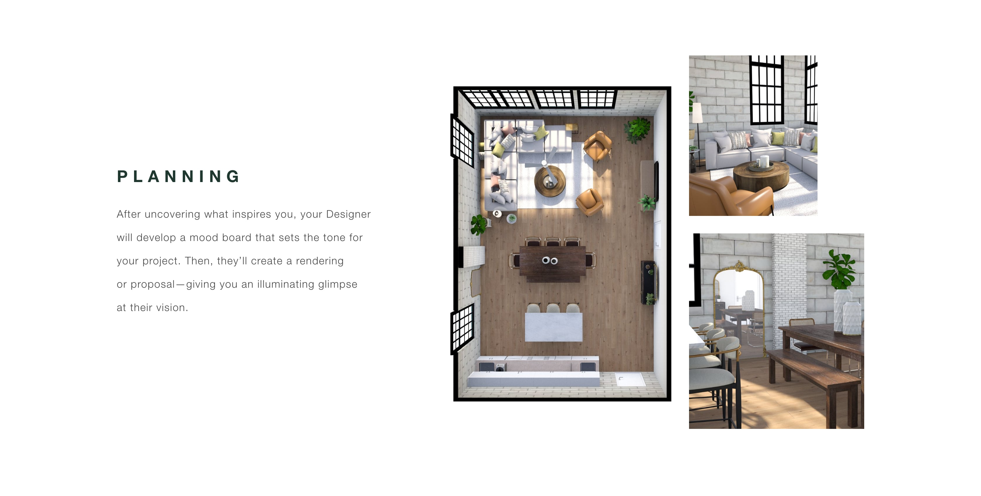 Planning - Mood Boards and Renderings