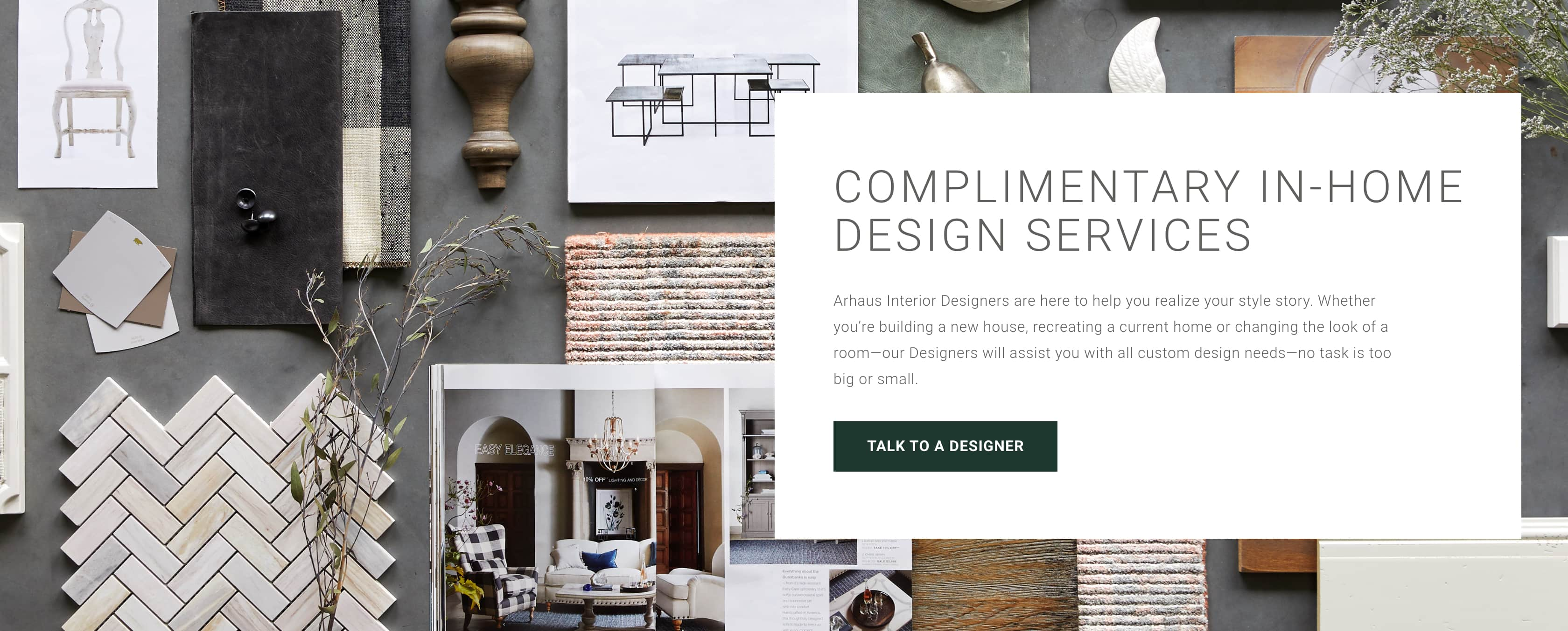 Arhaus Complimentary In-Home Design Services