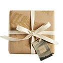 A product wrapped in Arhaus gift wrap