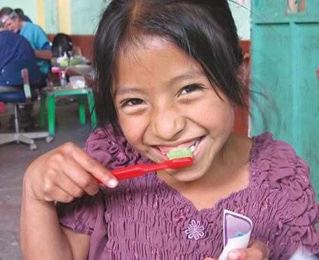 Providing dental care through Global Dental Relief to children who do not normally have access