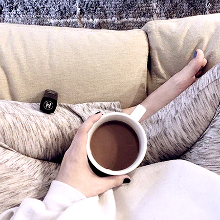 coffee on sofa