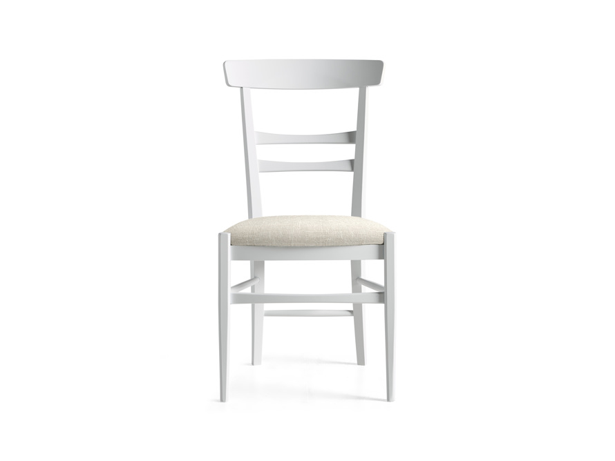 Allora Dining Chair in All White, slide 1 of 10