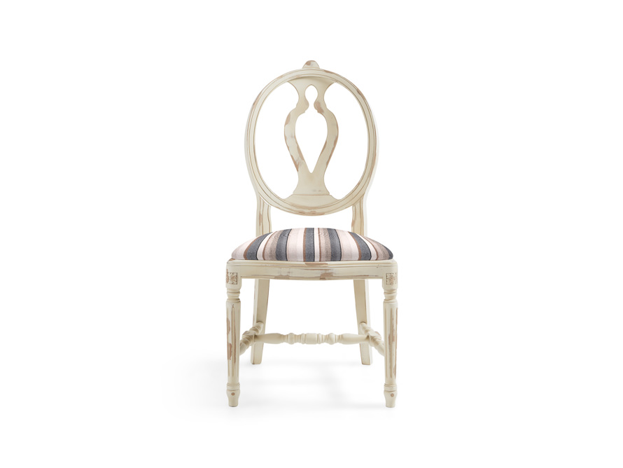 """Cecilia 20"""" Dining Side Chair With Upholstered Seat In Gustavian Cream"""
