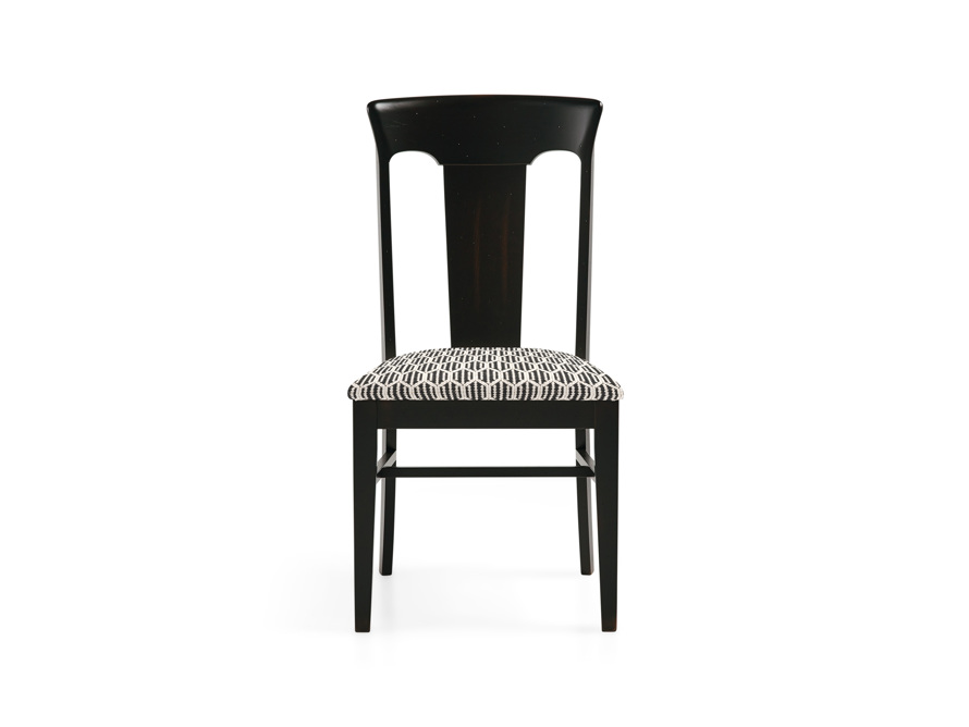 Holmes Dining Side Chair With Upholstered Seat In Aged Black, slide 1 of 8