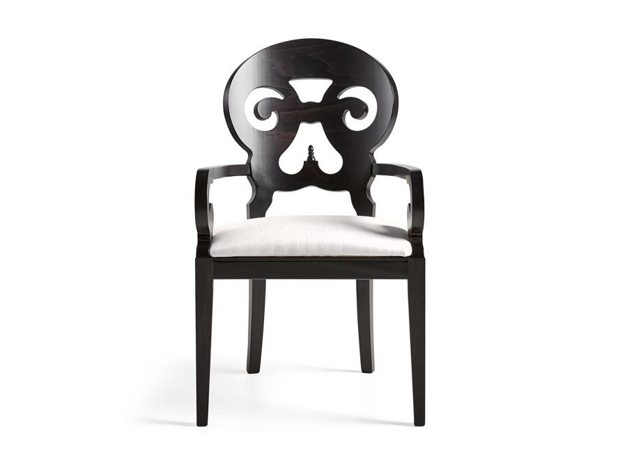 Jordan Dining Arm Chair Upholstered in Midnight, slide 1 of 11