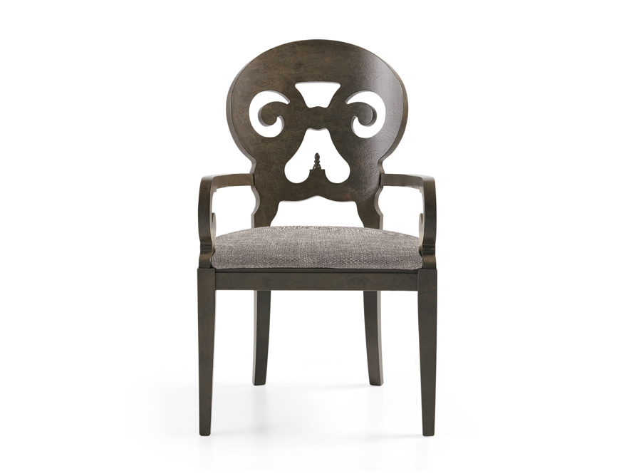 """Jordan Bell'Arte 25"""" Dining Arm Chair with Upholstered Seat"""