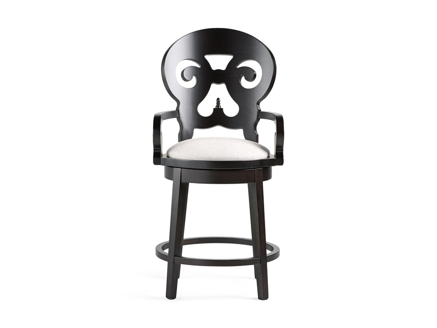 "Jordan 24"" Counter Stool in Midnight, slide 1 of 11"