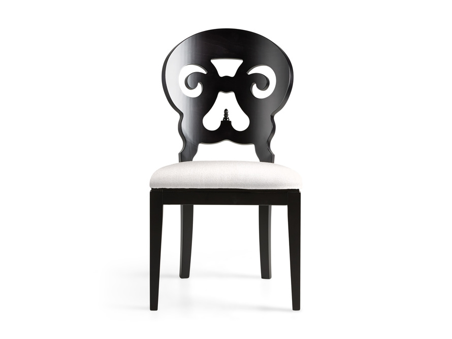 """Jordan 21"""" Dining Side Chair with Upholstered Seat in Midnight, slide 1 of 12"""
