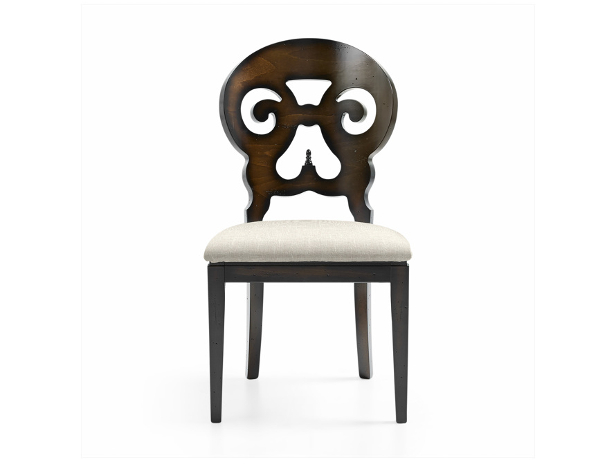 Jordan Dining Side Chair with Upholstered Seat in Noceto, slide 1 of 7