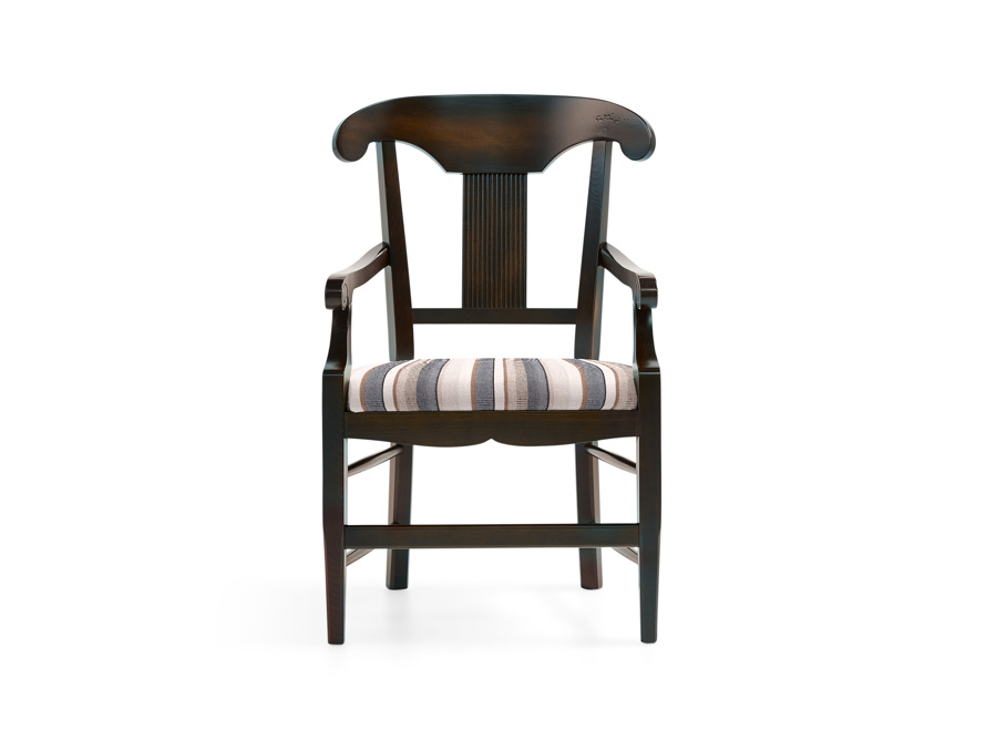 "Tuscany 23"" Dining Arm Chair With Upholstered Seat in Noceto"