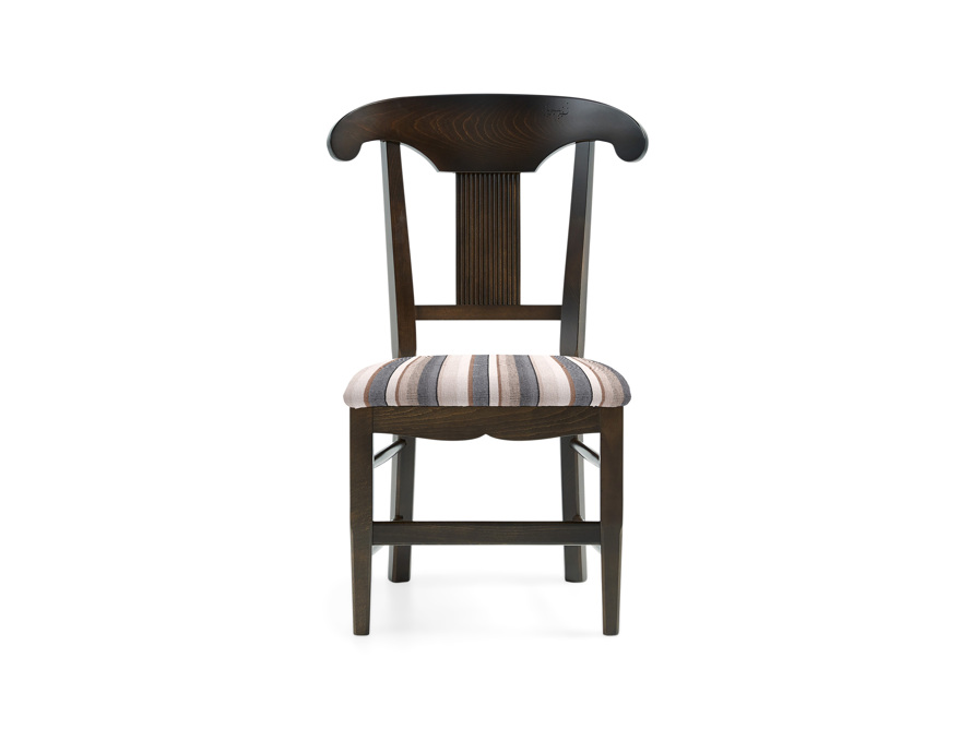 "Tuscany 25"" Dining Side Chair with Upholstered Seat in Noceto"