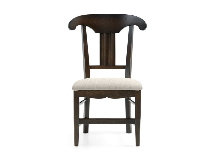 "Tuscany 25"" Dining Side Chair with Upholstered Seat in Noceto, slide 1 of 4"