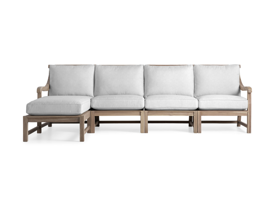 Hamptons Outdoor Four Piece Left Arm Sectional, slide 1 of 6