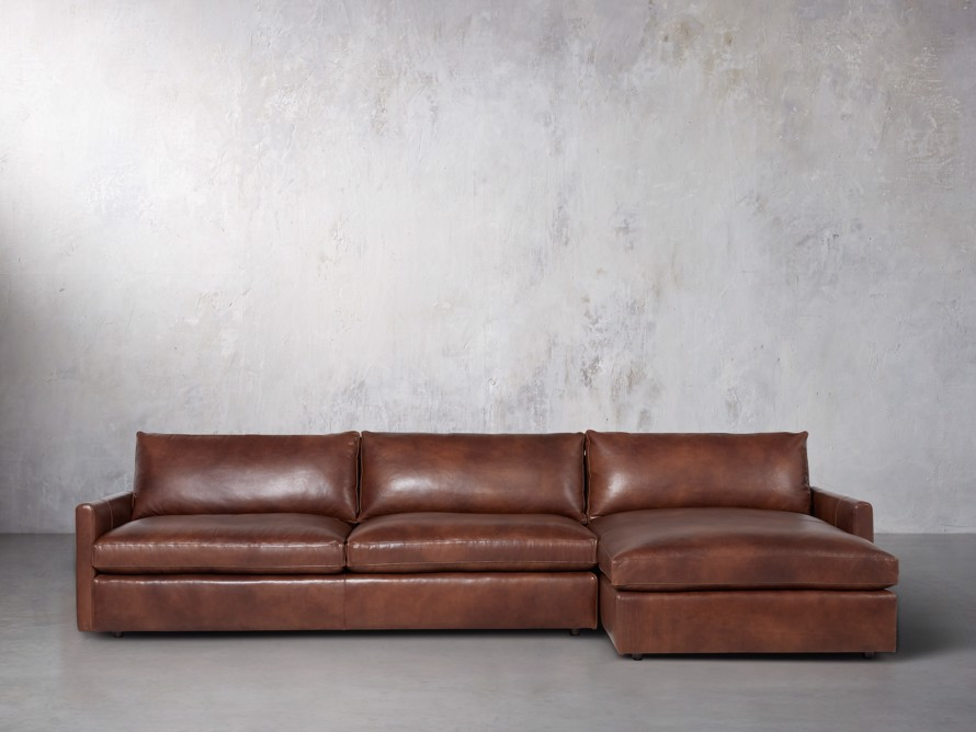 "Kipton Leather 139"" Right Arm Sectional, slide 1 of 7"