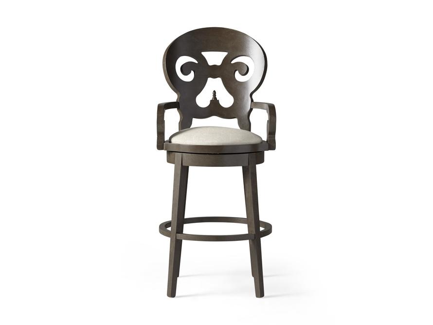 """Jordan 24"""" Barstool with Upholstered Seat, slide 1 of 9"""