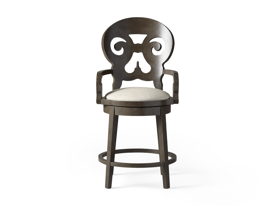 """Jordan 24"""" Counter Stool with Upholstered Seat, slide 1 of 9"""