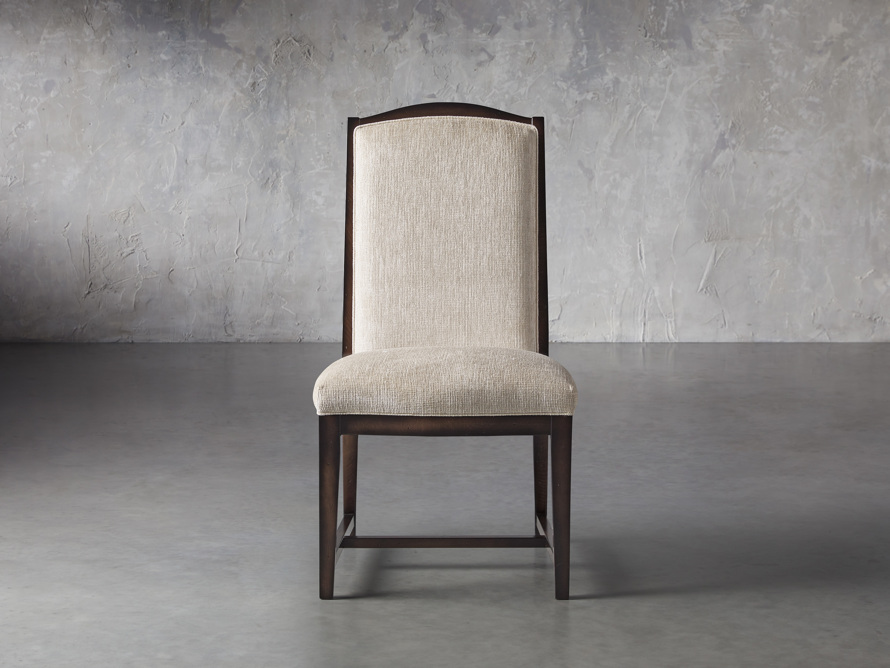 Isabella  Dining Side Chair in Taupe and Noceto, slide 1 of 8