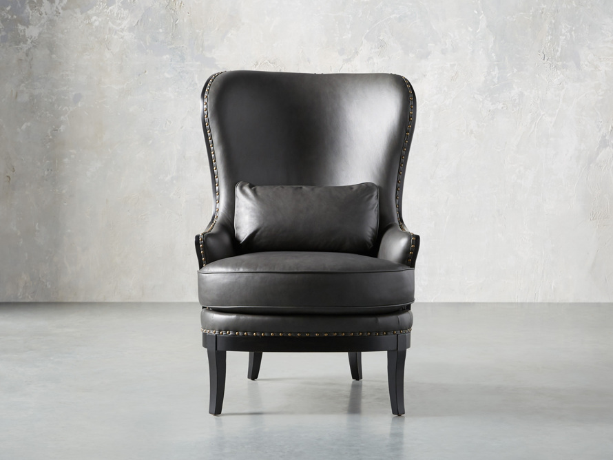 "Portsmouth Leather 32"" Chair, slide 1 of 12"