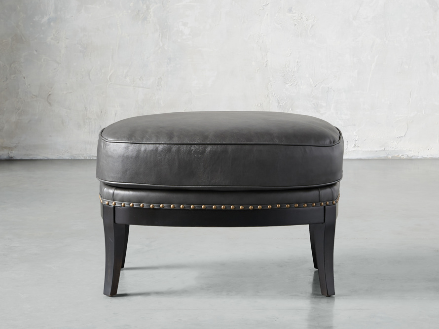 """Portsmouth Leather 29"""" Ottoman, slide 1 of 8"""