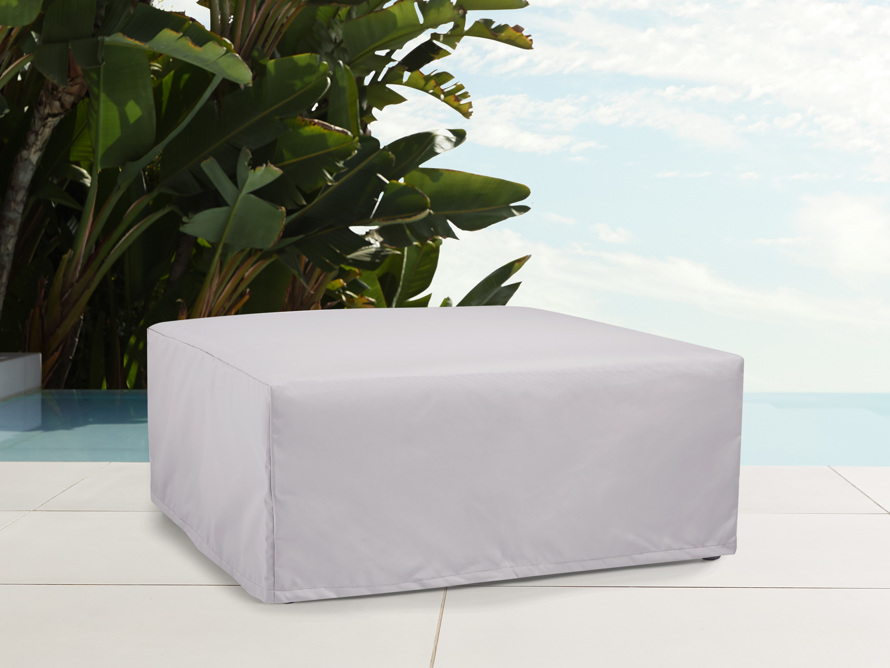 """Outdoor 29"""" Square Concrete Propane Fire Pit Table Cover, slide 1 of 4"""