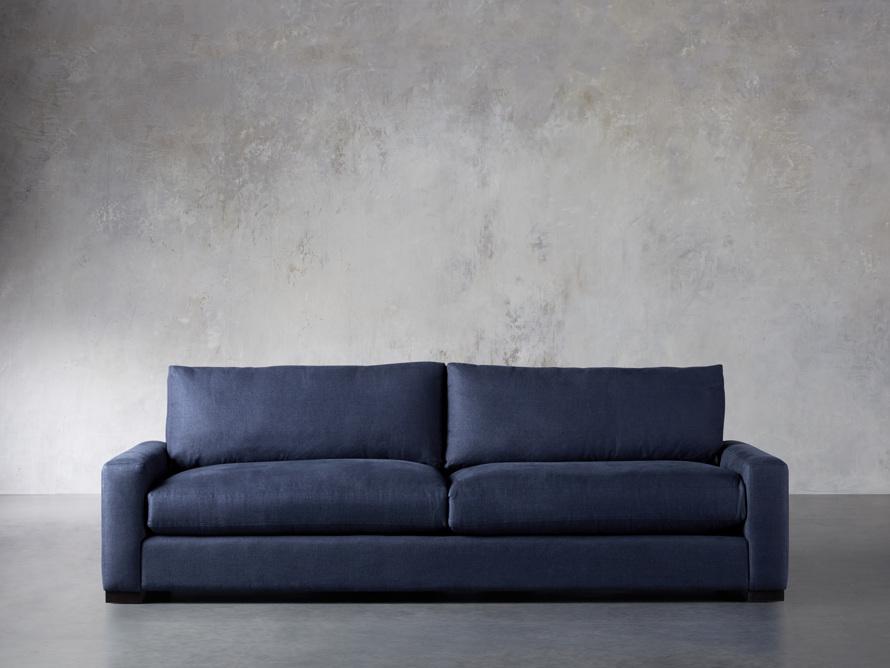 "Remington Deep 108"" Upholstered Sofa (2/2) in Chalet Indigo, slide 1 of 9"