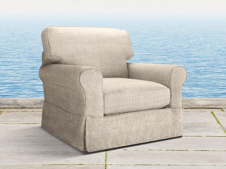 "Baldwin Outdoor 44"" Slipcovered Swivel Chair"