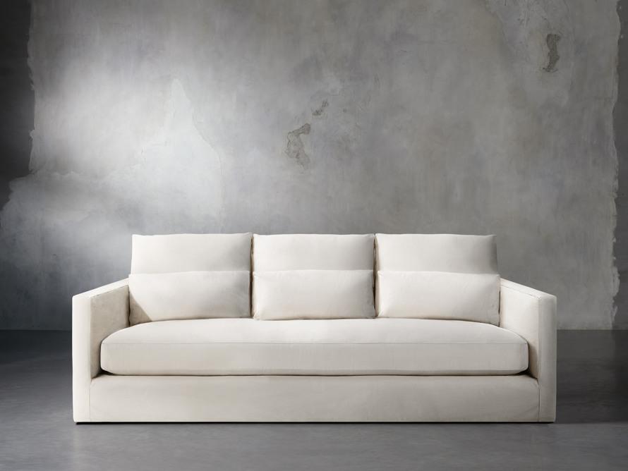"""Pollack 94"""" Slipcovered Sofa, slide 1 of 6"""