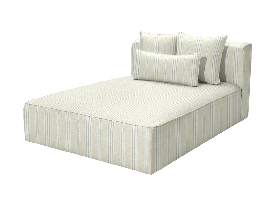 Andaz Outdoor Double Chaise in Sail Sailor, slide 1 of 7