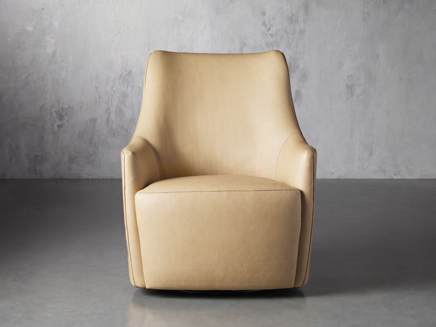 "Cole Leather 31"" Swivel Chair, slide 1 of 9"