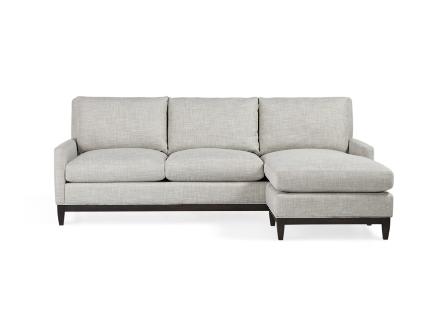 "Dante Upholstered 90"" Sofa With Reversible Chaise"