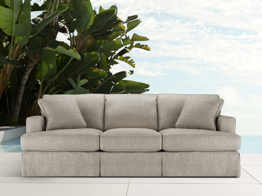 "Dune Outdoor Slipcovered 88"" Sofa (3/3)"